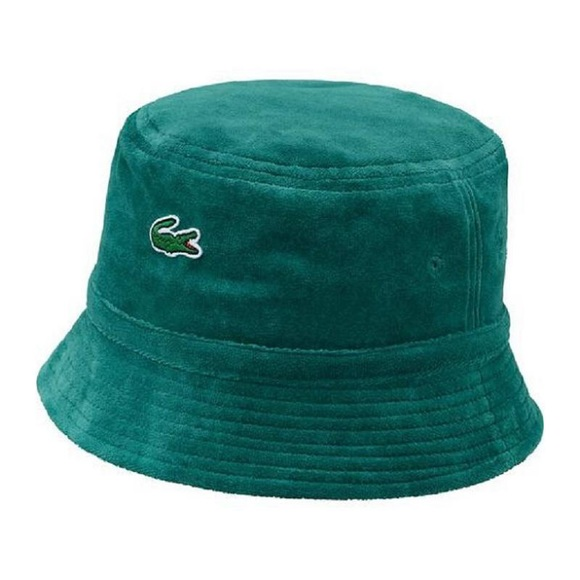 Supreme x Lacoste green bucket hat 2018 804e2ae3e4b